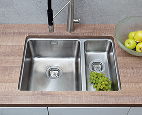 a picture of an undermount sink